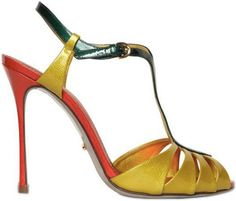 Sergio Rossi Murmansk t-strap patent leather sandal | SS2013