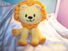 Big Headed crochet Lion cub ANY colors you want Can be made to rattle on Etsy, $26.75