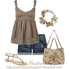 summer day, created by stacy-gustin on Polyvore