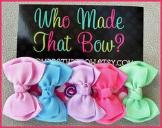 Who Made That Bow
