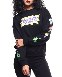 Find Rugrats Crew Neck Pullover Women's Tops from Fashion Lab & more at DrJays. Cute Swag Outfits, Chill Outfits, Trendy Outfits, Cartoon Outfits, Retro Outfits, Rugrats, Graphic Tee Outfits, Aesthetic Shirts, Kawaii Clothes
