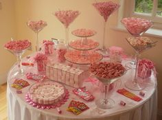 Candy Stations for Weddings | pink candy buffet, candy buffet, candy table, sweet table, sweet ...