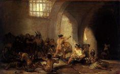 """Francisco Goya  """"Casa de locos """" 1812"""