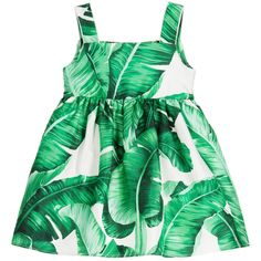 Baby Girls 'Botanical' Silk Dress & Knickers , Dolce & Gabbana, Girl