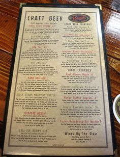 Beer Menus  Google Search  Menu And Board Ideas    Menu