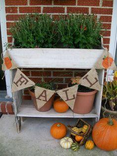 Fall porch vignette. #cultivatecreate