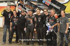 Craig Dollansky wins the Ironman 55 lap World of Outlaws Sprint Car main event Saturday afternoon at Federated Auto Parts (I-55) Raceway, Pevely, Missouri. Mark Funderburk photo
