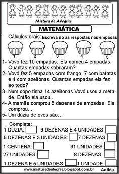 Atividade De Matematica Series Iniciais Alfabetizacao Imprimir Col