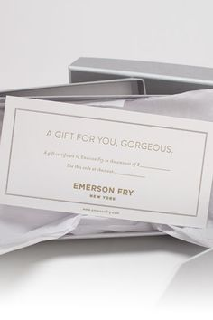 Emerson Fry | Boxed Gift Certificate