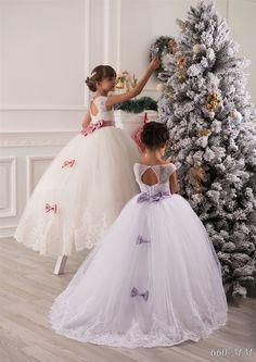 Elfenbein Blumenmädchen Kleid Brautjungfern von Butterflydressua