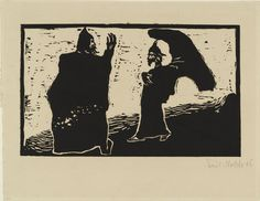 Emil Nolde (German, 1867–1956) General and Aide (General und Diener) from the portfolio Fairy-Tales (Märchen) Date:1906Medium:Woodcut