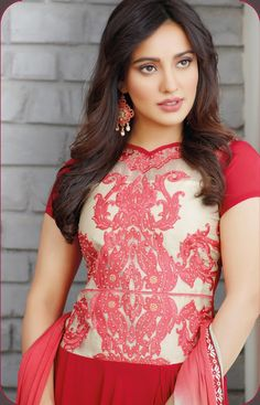 neha-sharma-red-anarkali-suit