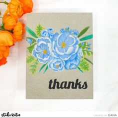 Wow, how beautiful are these Blooms in colored pencil by Dana! Flower Cards, How Beautiful, Colored Pencils, Thank You Cards, Scrap, Bloom, Studio, Create, Flowers