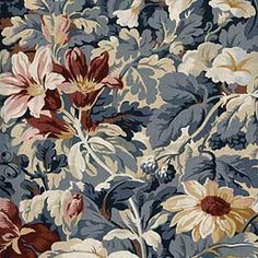 LARGE FLORAL COUNTRY FABRIC