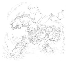 Battlechasers Gully : Nightwar by mikebowden on DeviantArt Comic Style Art, Comic Art, Art Sketches, Art Drawings, Battle Chasers, Character Art, Character Design, Black And White Drawing, Art Studies