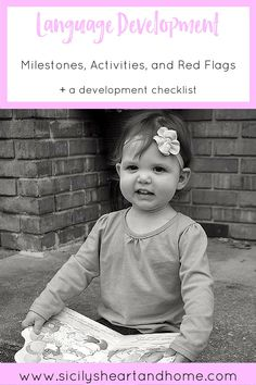 Language Development: Activities and Milestones for Ages 1-5 | The language domain is one of the early childhood domains. The language domain consists of communicating, reading, and writing. Click through to learn about the language milestones, red flags, and activities to meet language development.