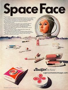space face!   1969 tussy real girl cosmetics magazine ad