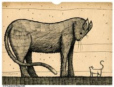 GIANT CAT small cat by Jon Carling