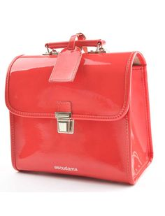 High-quality patent leather schoolbag, made in Italy. Available in all the colors of the rainbow and more!