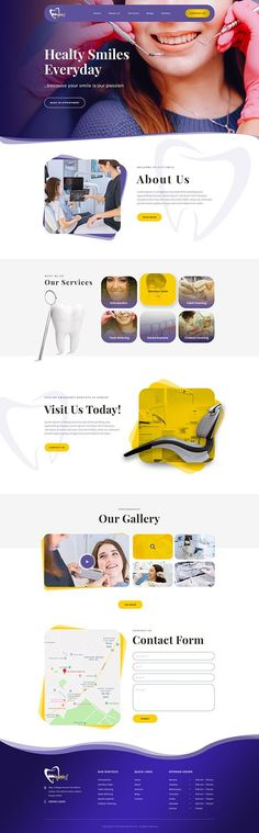 Dentist clinic website on Behance Page Layout Design, Website Design Layout, Web Layout, Website Designs, Web Design Websites, Web Ui Design, Dentist Website, Dentist Clinic, Creative Web Design