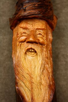 A Wood Carving of a Wood Spirit The Perfect by TreeWizWoodCarvings