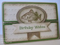 Dexterous Designs: Fishy on a Dishy with Stampin' Up! By the Tide