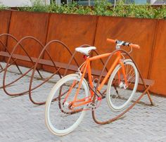 corten steel bike rack - Google Search
