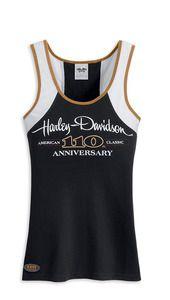 Harley-Davidson® Women's Limited Edition Anniversary Racer Back Tank Top. Harley Davidson Gloves, Harley Davidson Womens Clothing, Harley Davidson Online Store, Harley Davidson T Shirts, Harley Boots, Harley Gear, Harley Apparel, Harley T Shirts, Anniversary