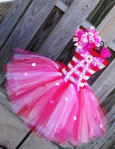 ON SALE Sweet Heart tutu dress set by jenniferramirez4 on Etsy, $40.00