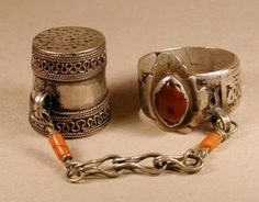 ring with thimble attached