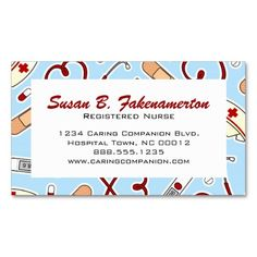191 best nurse business cards images on pinterest in 2018 business cute nurse or caregiver blue business card colourmoves