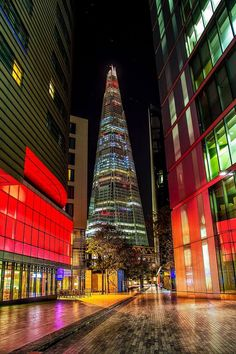 The Shard at night, London