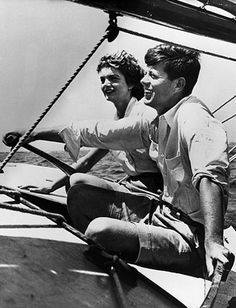 Aboard Victura a Wianno Sr. sailboat that JFK received as a 16th birthday gift.