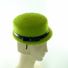 Best Party Hat Ever Lime Green Pillbox Hat w by TheMillineryShop