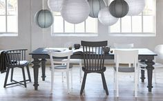 group of rice paper lamps Japanese Lamps, Interior Decorating, Interior Design, Black Lamps, Rice Paper, Cool Rooms, Dinner Table, Dining Room Table, Ikea