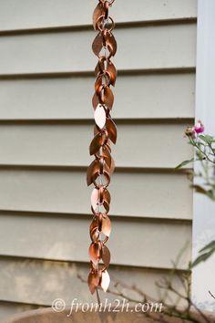 The rain chain with leaves | DIY Rain Chain (2 ways)