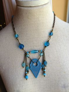 Hey, I found this really awesome Etsy listing at http://www.etsy.com/listing/153183643/caribbean-blue-talhakimt-necklace