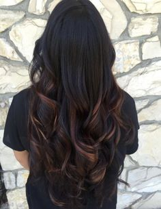 ideas balayage summer hair color Pinner Ideas Hair Color Summer Balayage Image Size 431 x 55 Magenta Hair Colors, Hair Color Auburn, Red Hair Color, Hair Color Balayage, Hair Highlights, Black Hair With Red Highlights, Mechas Chocolate, Wedding Hair Colors, Feathered Hairstyles