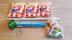 popcorn jellybean traktaties benodigdheden