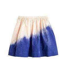 Girls' dip-dyed pull-on skirt