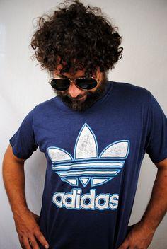 adidas trefoil t shirt 80s