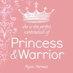 Princess and Warrior Nursery Print by MysticMermaidCove on Etsy