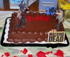 'The Walking Dead' cake>>>just buy plain cake and add figurines