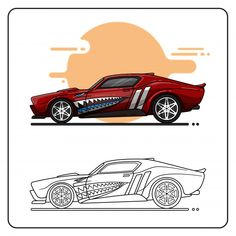 Muscle Bound Vector Photo, Muscle Cars, Vector Free, Collection, Background Vintage, Vectors, Book, Cars, Sketches