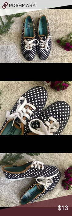 Keds Polka Dot Shoes Previously purchased from another Posher. Unfortunately, my feet are too wide and couldn't keep. Shoes are in great condition. No stains or rips. Color black and white Polka dots. Keds Shoes Sneakers