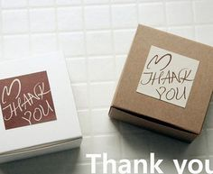 "FKT007 Wholesale beautiful Cayin ""Thank you"" square sealing tag baking package cake box decoration 4.2x4.2cm 60pcs/lot"