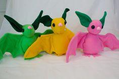 Fruit Bats by bluepaws21.deviantart.com on @DeviantArt  Made with a sewing pattern from www.beezeeart.com