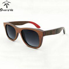 b24bd62d4bc DRESSUUP Unisex Polarized Bamboo Sunglasses Polarized Sunglasses