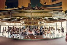 The St. Louis Carousel  Created by the Dentzel Company of Philadelphia in the 1920s; installed in 1929 at the Forest Park Highlands. Restored in 1987 and installed in a climate controlled building in Faust Park. Best of all, it's situated in front of a fantastic playground and right next door to the Butterfly House!