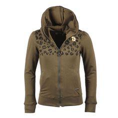 Stoere meisjes vest van Tumble N Dry kinderkleding merk in het legergroen met panterprint. | trendy | animal print | Kinderkleding, Kindermode en Babykleding www.kienk.nl |